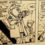 """Detalle de origina """"Gil Jourdain - Les Cargos du crépuscule"""" - 1961 - Tillieux"""